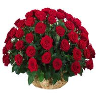 75 roses in the basket for the anniversary - flowers and bouquets on df.ua