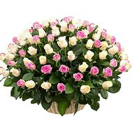 Большая корзина роз - цветы и букеты на df.ua