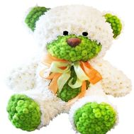 Large bear of chrysanthemum flowers - flowers and bouquets on df.ua