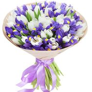 Bouquet 101 tulips with irises - flowers and bouquets on df.ua