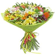 Bouquet of flowers from 51 alstromerias - flowers and bouquets on df.ua