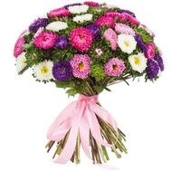 Bouquet of flowers from 51 asters - flowers and bouquets on df.ua