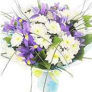 Bouquet of irises and chrysanthemums - flowers and bouquets on df.ua