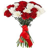 Bouquet of red and white carnations - flowers and bouquets on df.ua