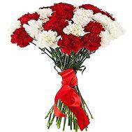 Букет из красных и белых гвоздик - цветы и букеты на df.ua