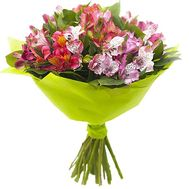 Bouquet of multicolored alstromeries - flowers and bouquets on df.ua