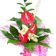 Bouquet with anthurium - flowers and bouquets on df.ua