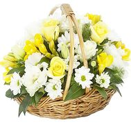 """Basket of flowers for the wife"" in the online flower shop df.ua"