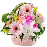 Flower basket for your beloved - flowers and bouquets on df.ua