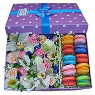 Flowers and macaroons - flowers and bouquets on df.ua