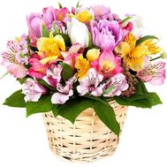 Flowers in the basket to buy - flowers and bouquets on df.ua
