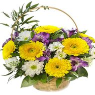 Flowers in the basket - flowers and bouquets on df.ua