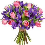 Irises and tulips in a bouquet - flowers and bouquets on df.ua