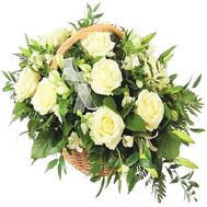 """""""Composition of white flowers"""" in the online flower shop df.ua"""