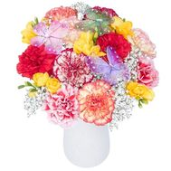 Composition of carnations in flower pots - flowers and bouquets on df.ua