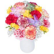 Композиция из гвоздик в кашпо - цветы и букеты на df.ua