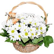 Composition in a basket of chrysanthemums - flowers and bouquets on df.ua