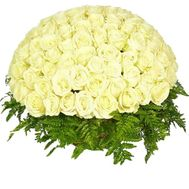 Cart 101 white rose buy - flowers and bouquets on df.ua