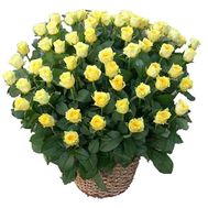 Basket 135 yellow roses - flowers and bouquets on df.ua