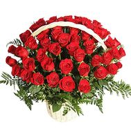Cart of 51 roses - flowers and bouquets on df.ua