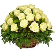 White roses basket - flowers and bouquets on df.ua