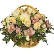 Корзина цветов для мамы - цветы и букеты на df.ua