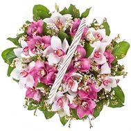 Корзина цветов на юбилей - цветы и букеты на df.ua