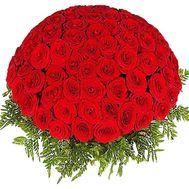 Корзина из 101 розы - цветы и букеты на df.ua