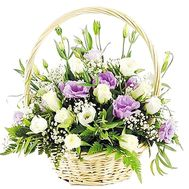 """Basket of eustoma"" in the online flower shop df.ua"