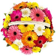 """Basket with gerberas"" in the online flower shop df.ua"
