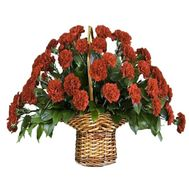 Basket of red carnations - flowers and bouquets on df.ua