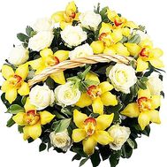 Basket of orchids and roses - flowers and bouquets on df.ua