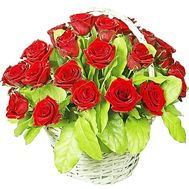 Basket of red roses - flowers and bouquets on df.ua