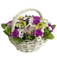 Basket with flowers - flowers and bouquets on df.ua
