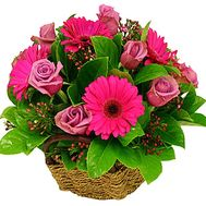 Beautiful basket of flowers for Birthday - flowers and bouquets on df.ua