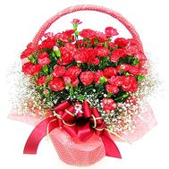 Red carnations in the basket - flowers and bouquets on df.ua