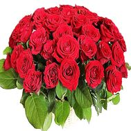 Red roses in a basket for men - flowers and bouquets on df.ua