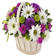 A small basket of flowers - flowers and bouquets on df.ua