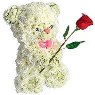Мишка из хризантем - цветы и букеты на df.ua