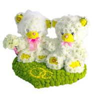 Мишки из цветов Я тебя люблю - цветы и букеты на df.ua