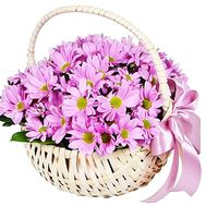 A delicate basket of flowers - flowers and bouquets on df.ua