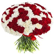 A huge bunch of 101 carnations - flowers and bouquets on df.ua