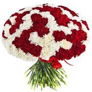 Огромный букет из 101 гвоздики - цветы и букеты на df.ua