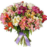 """Huge bouquet of multi-colored alstromeries"" in the online flower shop df.ua"