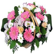 """Different flowers in the basket"" in the online flower shop df.ua"
