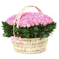 Magnificent basket of pink roses - flowers and bouquets on df.ua