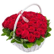 Exquisite basket of red roses - flowers and bouquets on df.ua