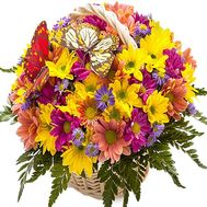Bright flower basket - flowers and bouquets on df.ua