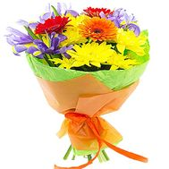 Bright bouquet with irises - flowers and bouquets on df.ua