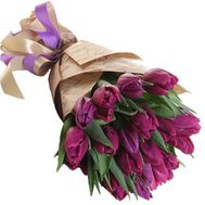 19 purple tulips - flowers and bouquets on df.ua